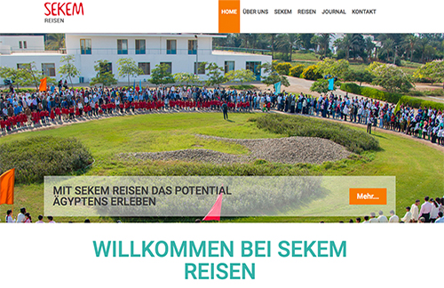 Webdesign Dienst Überlingen, Website Sekem Reisen